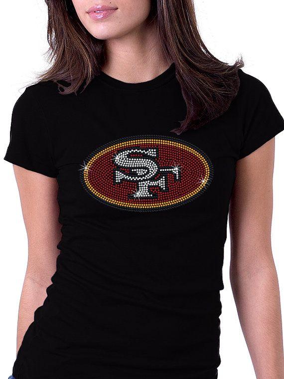 San Francisco 49ers Rhinestone Shirt by RascoPrints on Etsy, $24.99