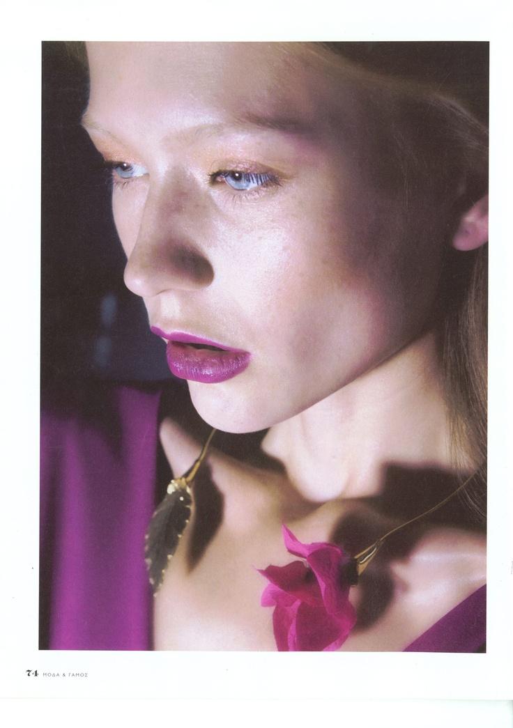 Elena Kougianou Flower Necklace  www.utopiaelenak.com