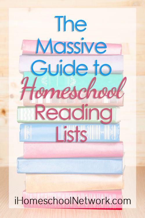 The Massive Guide to Homeschool Reading Lists | iHomeschool Network #ihsnet