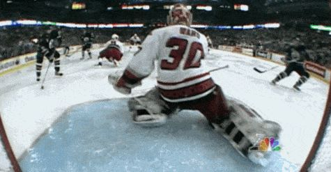 Here's a save by Cam Ward that you may not have seen before. It's from the 2006 Stanley Cup Finals. #NHL #Hockey #Hurricanes #Oilers