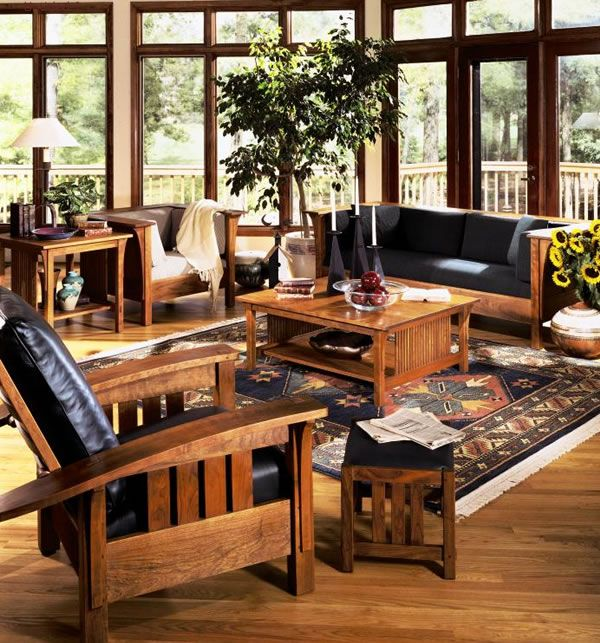 39 best arts crafts living room ideas images on pinterest living room ideas craftsman and for Craftsman style living room furniture