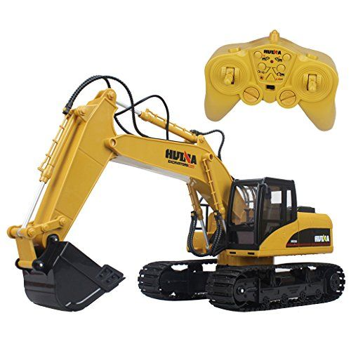 2.4G 15 Channel Full Functional Remote Control Construction Tractor Cab Can Be Rotate 680 Degrees and 360 Degree Pivot Steering With Caterpillar Band 3 Section Boom Lift Up and Down and Digging Arm Each Joint can be Independently Controlled. . . . read more . . . pls repin