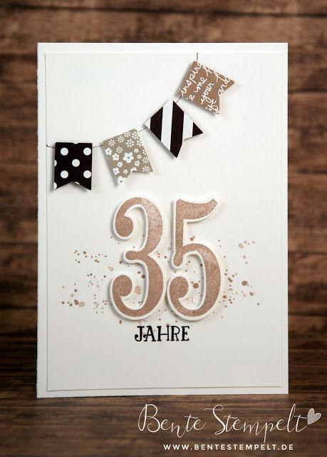 Karte zum Jubiläum - Dienstjubiläum - Anniversary card Stampin' Up!