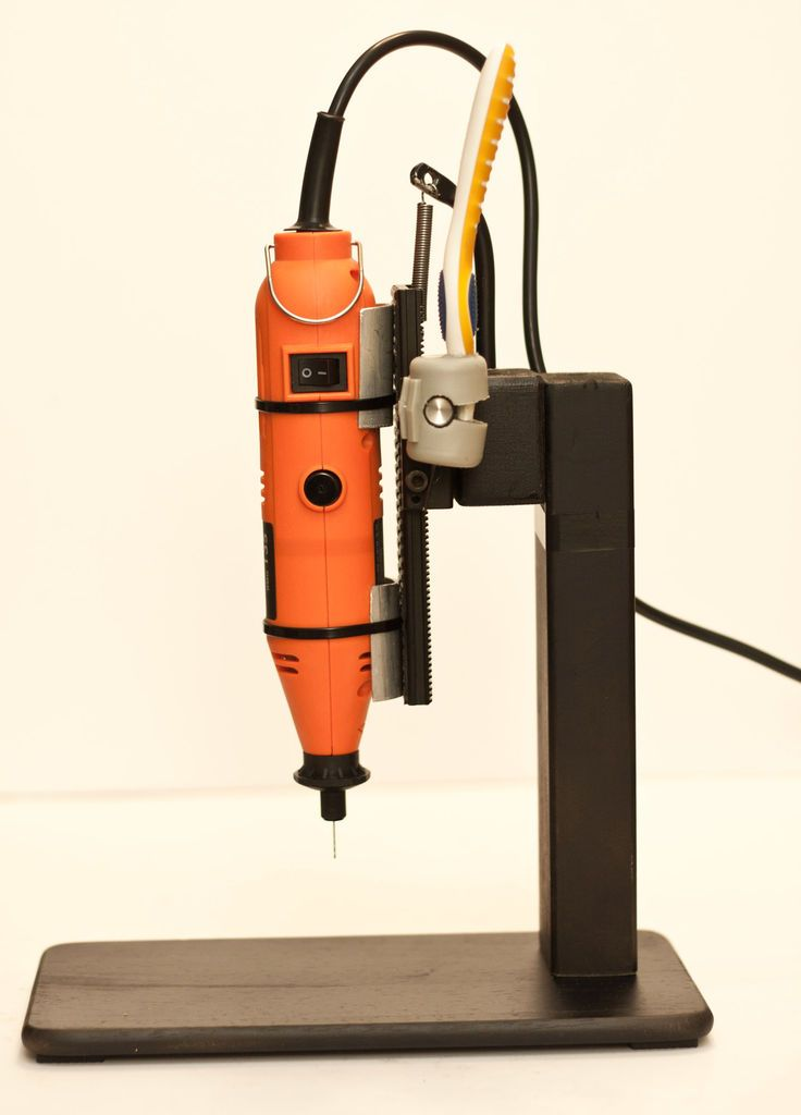 Cheap precision drill stand. Kinda like making your own little drill press machine.
