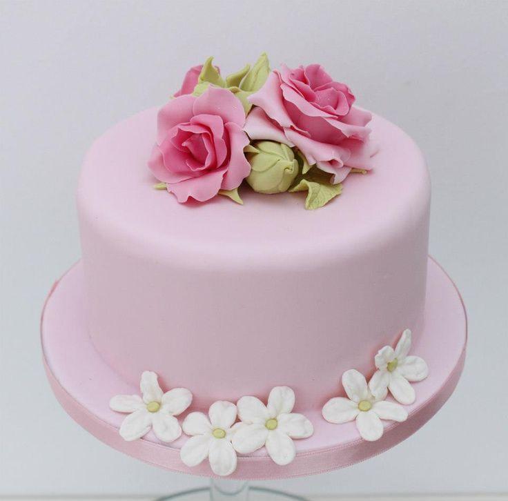 pastel mini bouquet de rosas