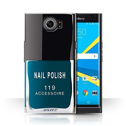 STUFF4 Phone Case  Cover for BlackBerry Priv  Blue Design  Nail PolishMake Up Collection *** Click image to review more details. (Note:Amazon affiliate link)