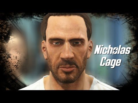 Fallout 4 l Character Creation Challange l Nicholas Cage - YouTube