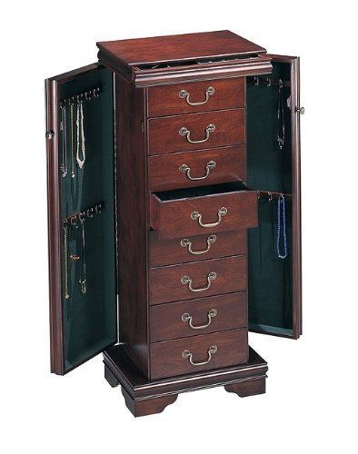Cedar Jewelry Armoire ~ Nice gt louis phillipe type cherry wooden end jewellery