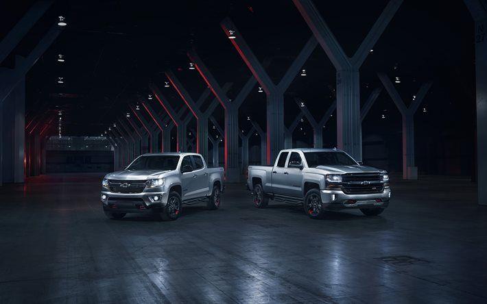 Chevrolet Silverado, 2017, Chevrolet Colorado, SUV, American cars
