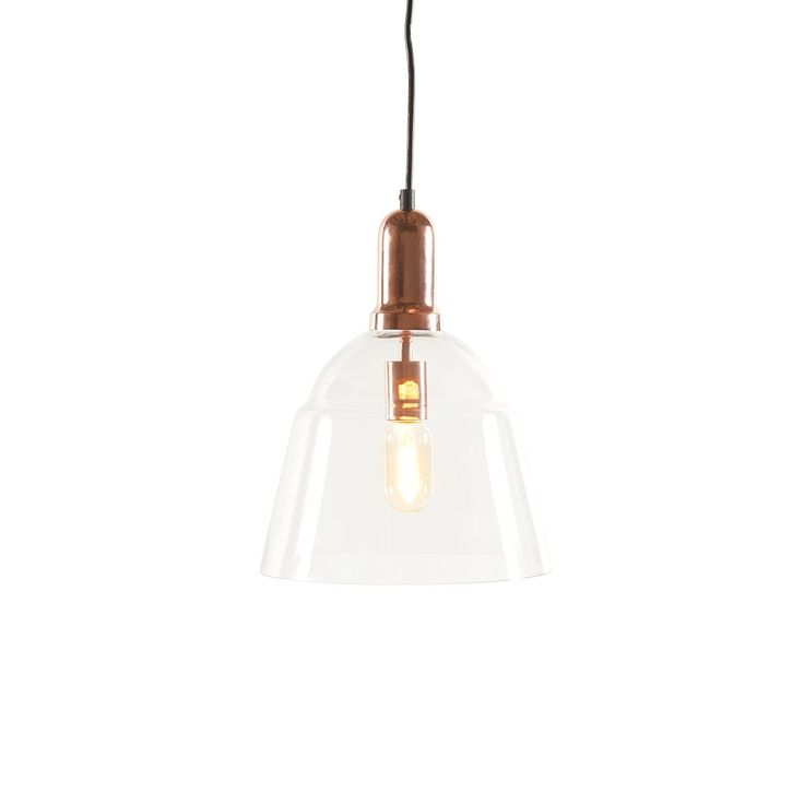 Buy Glass pendant, clear glass with steel in plated copper 10*10*12 (LA1301A EA 00) online easily, and securely with Bois & Cuir. Choose from a wide selection of Pendants.