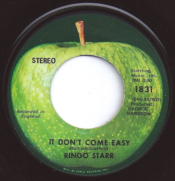 It Don't Come Easy / Ringo Star / #4 on Billboard 1971