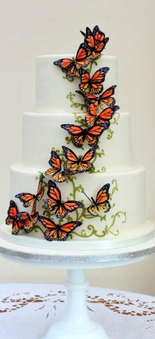 Migrating Monarch Butterflies Cake