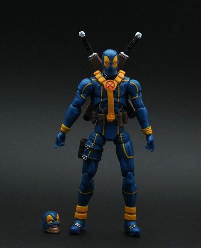 Deadpool Action Figure Blue Suit X Patrol First Edition 4 Inches //Price: $13.94 & FREE Shipping //     #civilwar