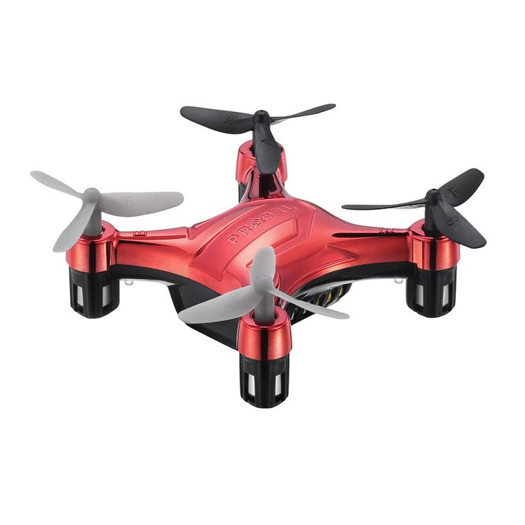 Propel Flek Micro Drone Indoor / Outdoor Wireless Quadcopter, Red