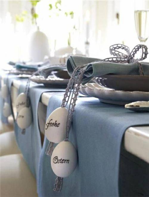 Ostern 2014 – coole Osterdeko selber basteln - ostern dekoration frisch festlich osterei