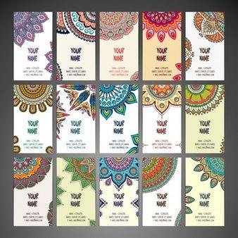 Cartões com mandalas