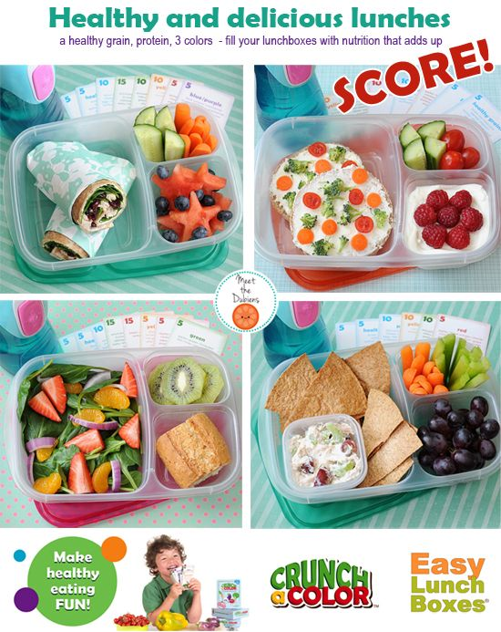 Fun and healthy is easy with #easylunchboxes and @Jenn L Tyler Lee / Crunch a Color