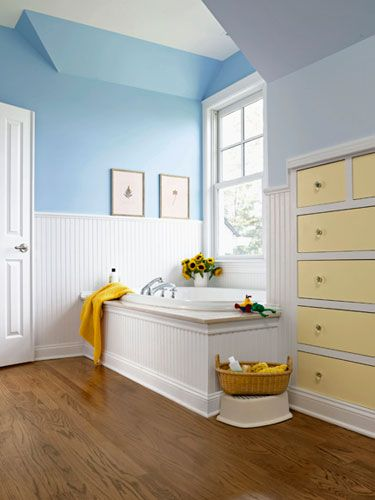 Yellow, White, and Blue | Color-Blocked Drawers