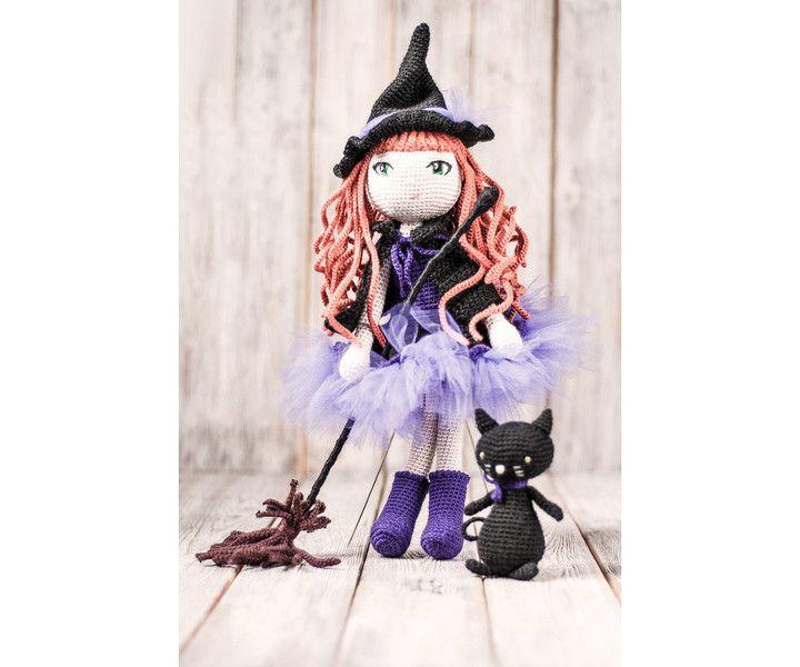 Czarownica z kotem - Mayalove- - Lalki