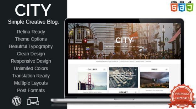 Download Free City v1.0 Retina Ready Responsive WP Theme