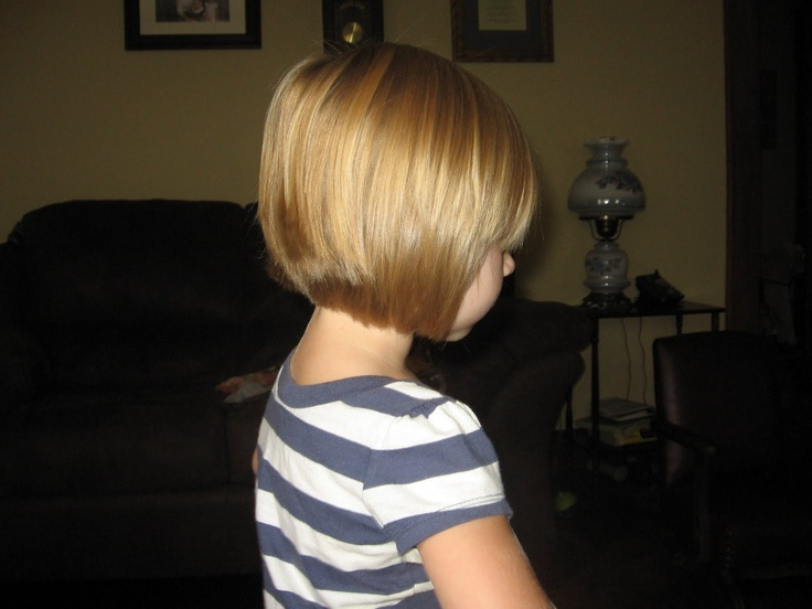 Image Detail For Ella S First Stacked Haircut She Looks