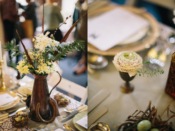 Event Hire -  Copper Pitcher & Brass Vessels (Assorted):  Narrative Hire  //  Styling:  Tebbey & Co.  //  Image:  Rachel Hayton