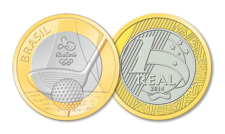 Brazil's new Rio 2016 Olympic golf coin