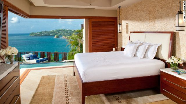 Recipe for a Romantic Hotel stay_Check into a room with a romantic view at the couples-only Sandals La Toc Golf Resort & Spa in St. Lucia.
