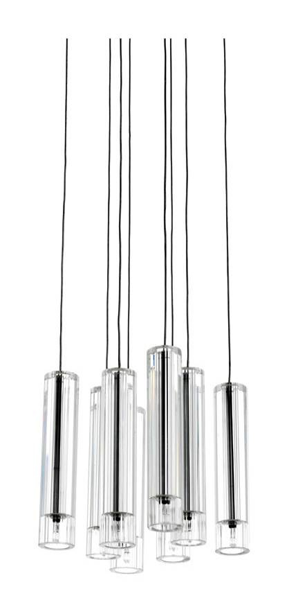 futuna chandelier with 8 pendants minimal and clear design lighting beleuchtung. Black Bedroom Furniture Sets. Home Design Ideas