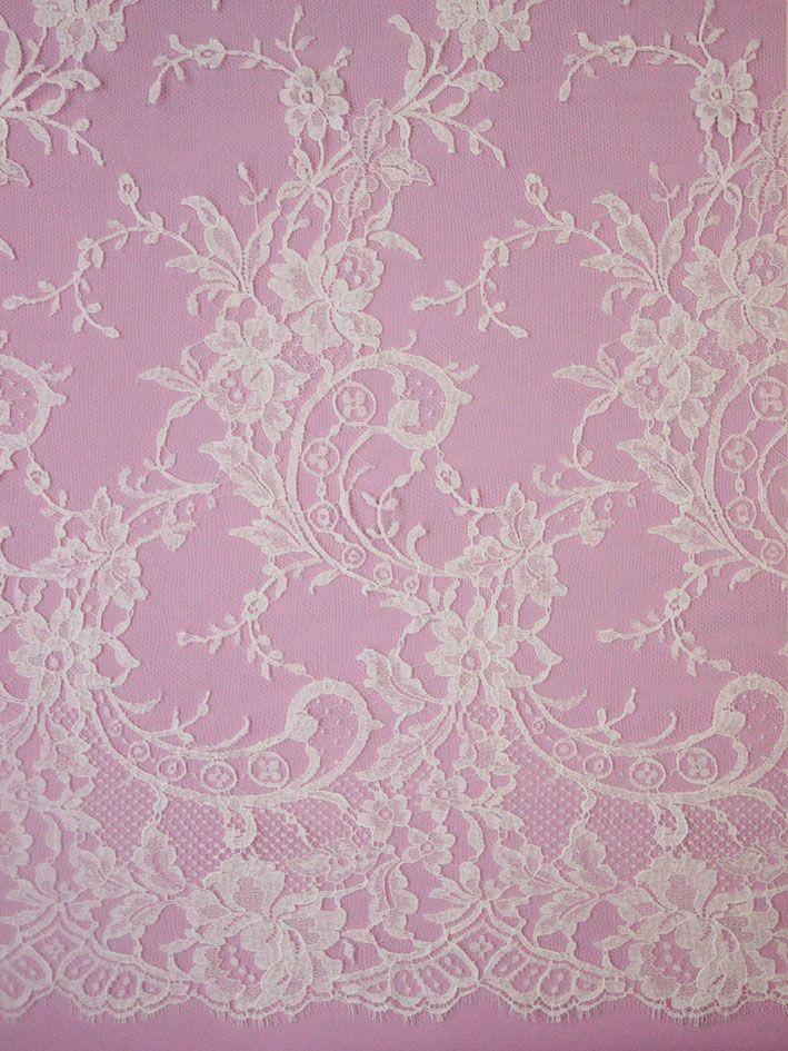 Ivory Chantilly Lace - Kate
