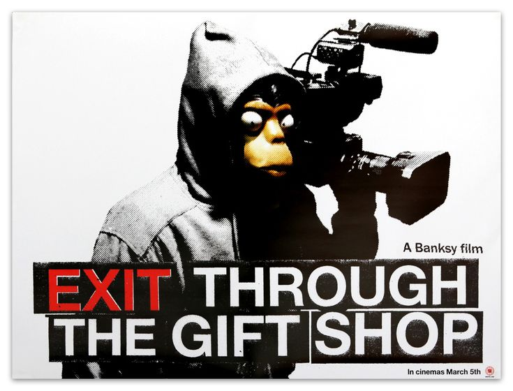 Awesome documentary on street art, graffiti and Banksy - as well as perhaps his greatest artwork? Exit Through The Giftshop