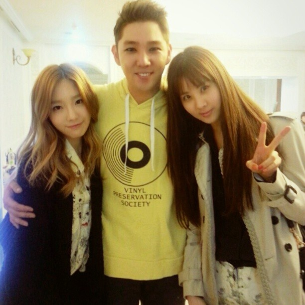 Taeyeon, Kangin, and Seo #Taengstagram #130325 #Girls'Generation #KidLeader #Maknae #SS5