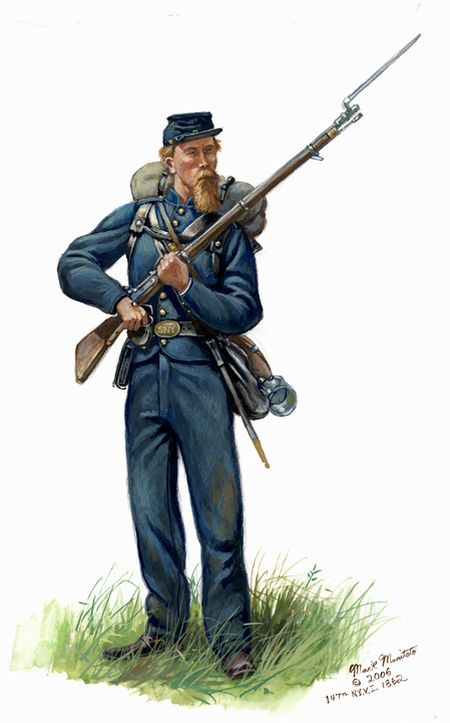 soldier of the 147th new york infantry 1862 american civil war
