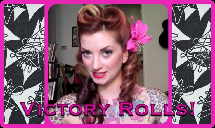 I wonder if I can do it this way. I tried earlier and it didn't work, I will need more hair supplies. Victory Roll Vintage Hair Tutorial by CHERRY DOLLFACE.