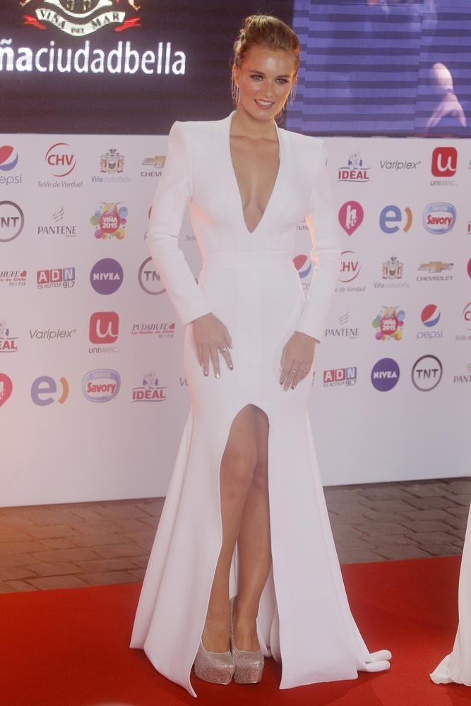 Kika Silva en la gala del Festival de Viña del Mar 2015