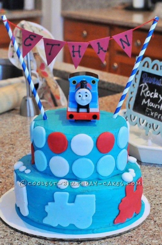 Modern Thomas the Train Cake