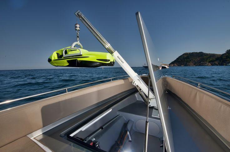 The Super RIB Naumatec Freccia 1200 Run Away Tender to Canados 120 Far Away   #Naumatec #Freccia1200 #Tender #Luxurytender #Luxury #FedericoFiorentino #Yacht #Yachtdesign #Design #RIB #Gommone #Canados #Seabob
