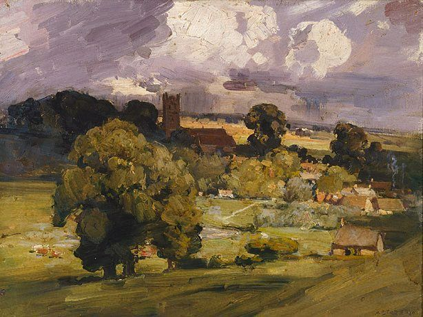 Carisbrooke, (circa 1910) by Arthur Streeton :: The Collection :: Art Gallery NSW
