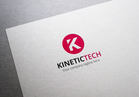 Kinetic Tech Letter K Logo by XpertgraphicD on Creative Market