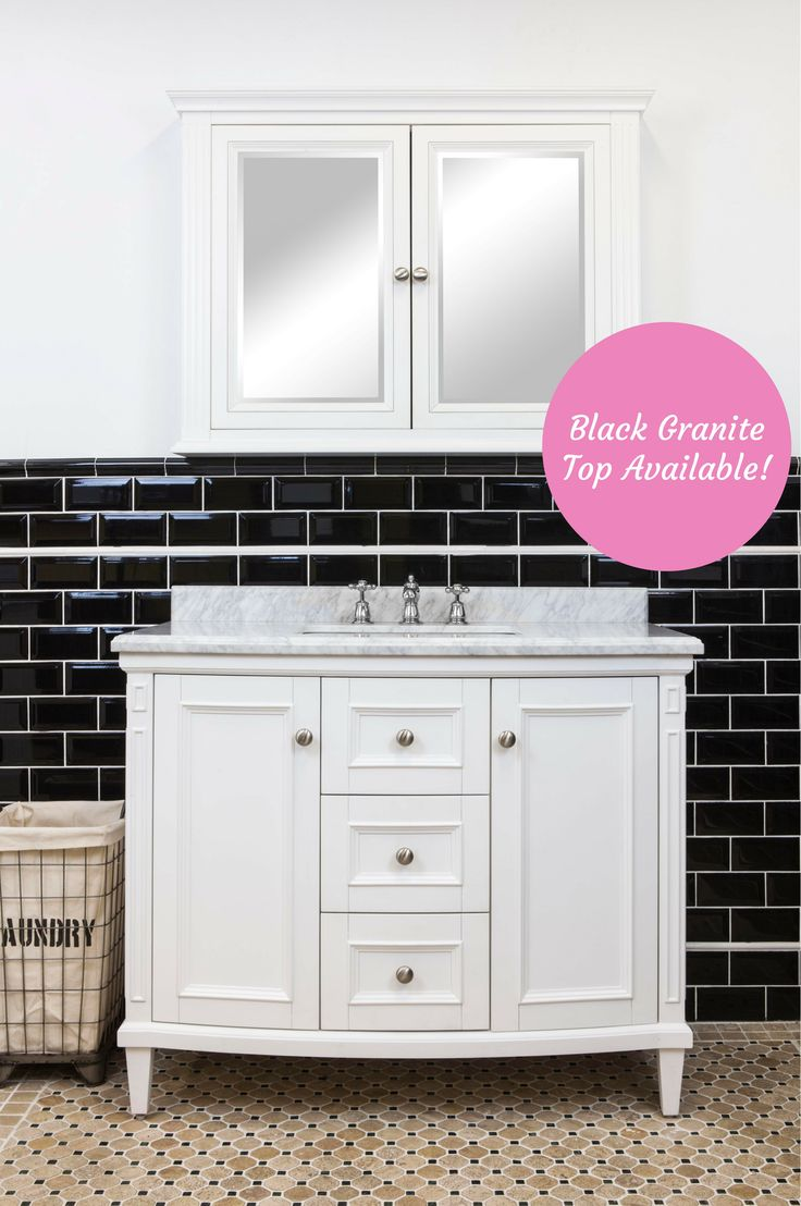 Classic Style Marble Top Montana Vanity with Ceramic Basin | Also available w/ Black Granite Top: https://www.schots.com.au/montana-single-vanity-medium-7310.html | White Edison Medicine Cabinet: https://www.schots.com.au/edison-medicine-cabinet-8933.html | More at Schots in Melbourne & Geelong, Australia or online at www.schots.com.au