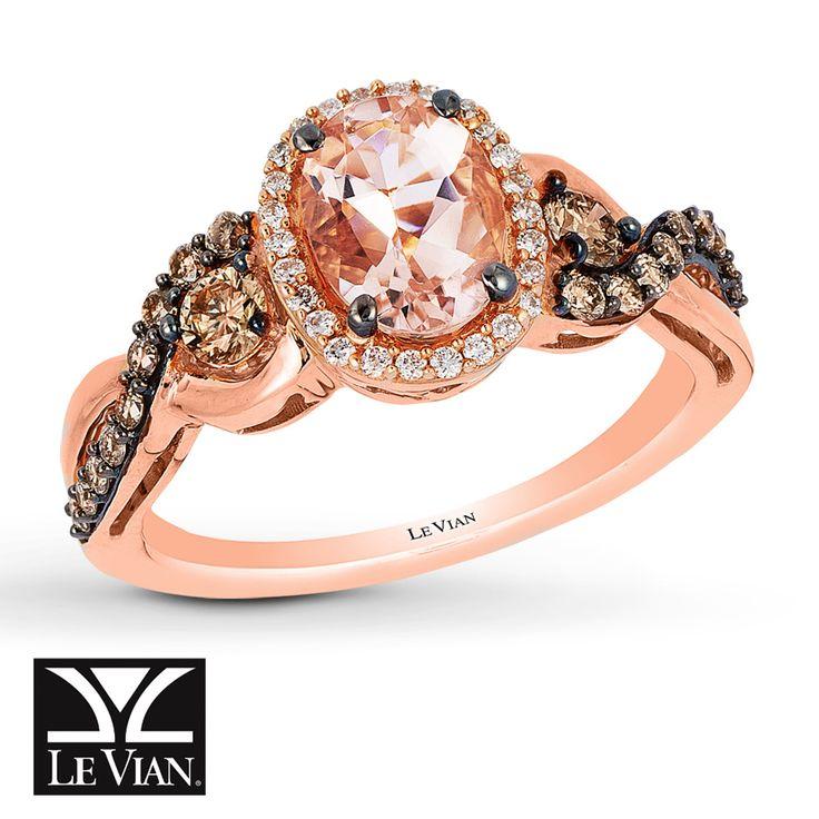 Levian Peach Morganite Engagement Ring
