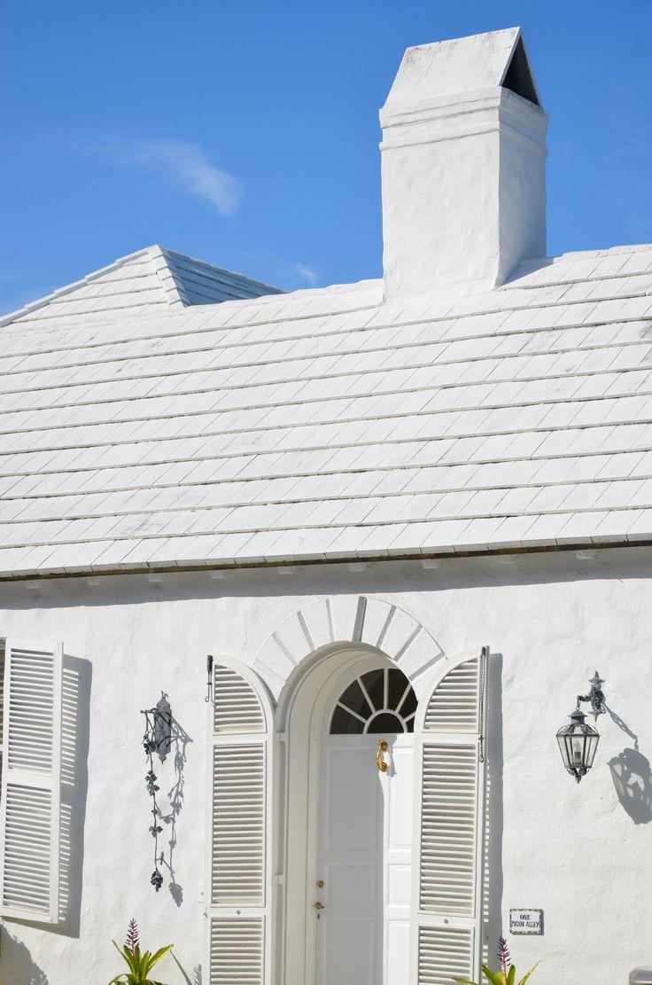white tile roof