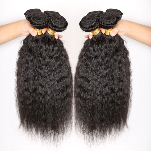 7A Peruanische Reine Haar Verworrene Gerade Webart 3 Bündel Befasst 100% Unverarbeitete Billig Peruanischen Italienische Kinky Yaki Haarverlängerung