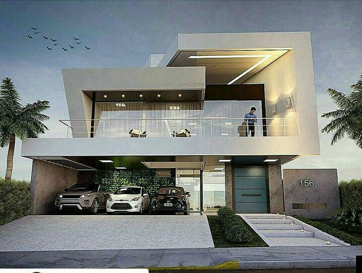 Pin de h karim en architecture pinterest fachadas for Casa moderna 4 mirote y blancana