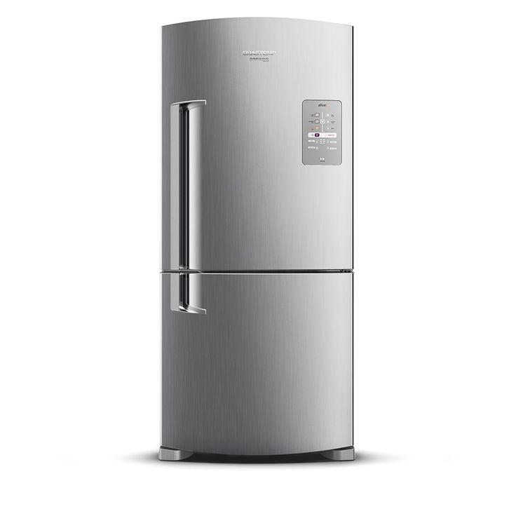 Geladeira/Refrigerador Brastemp Ative! BRE80AK 573 Litros 2 Portas Frost Free Platinum Evox - Brastemp com o melhor preço é no Walmart!