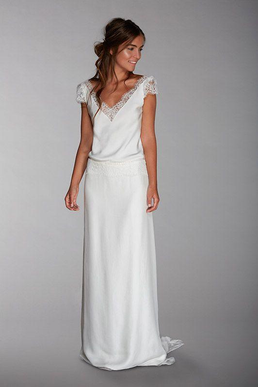 robe de mariée créateur fabienne Alagama Paris et Lyon - Collection Chantilly
