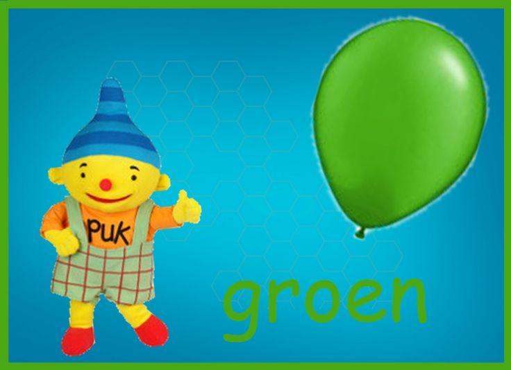 leer samen met puk de kleur groen