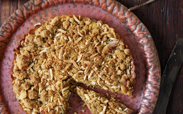 Feijoa streusel tart recipe - By FOOD TO LOVE, Nuts bring a wide array of nutty, toasty and sweet flavours to dishes – think the sweet butteriness of pine nuts, the milky sweetness of fresh almonds, and the toasty coffee-like taste of roasted hazelnuts.