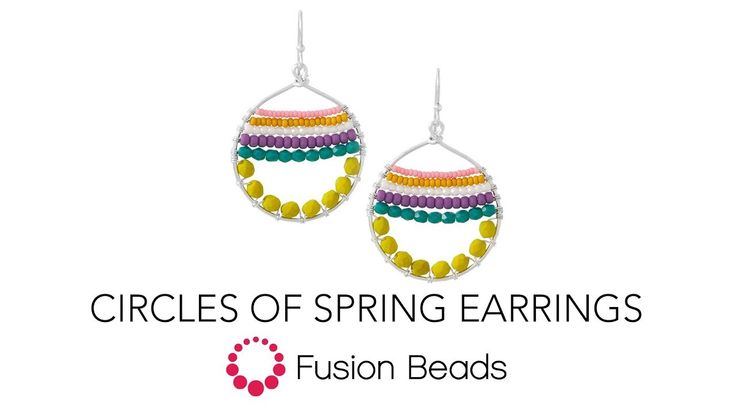 Watch How to Wire Wrap the Circles of Spring Earrings by Fusion Beads - YouTube