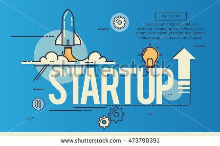 Target, Line flat design banner for website page, Modern vector illustration.